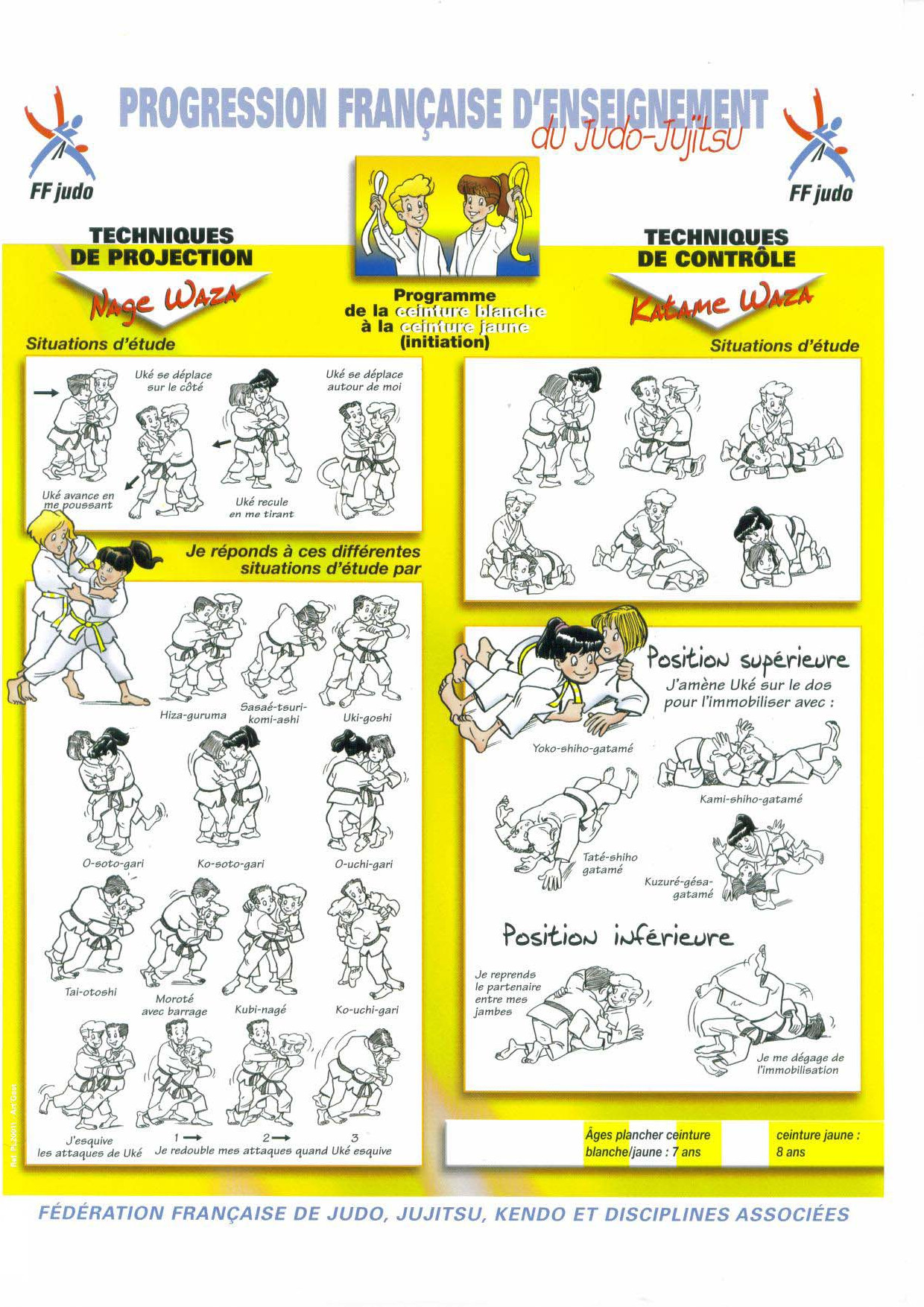 14a86a70c5f8 ceinture jaune jujitsu,livret ceinture blanche a jaune double